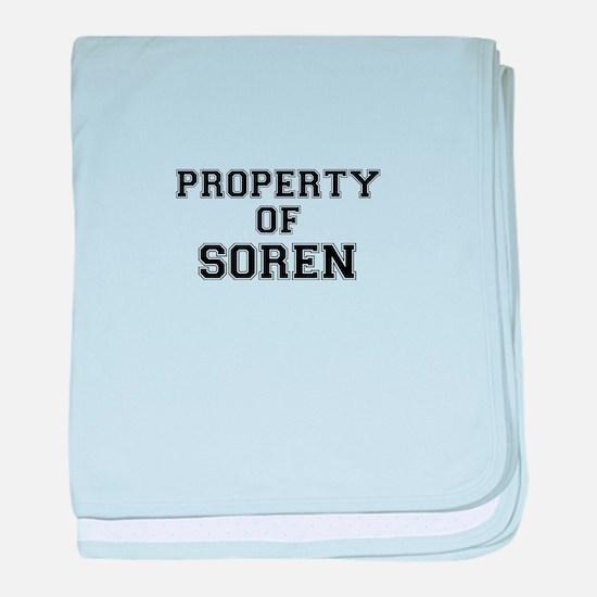 Property of SOREN baby blanket
