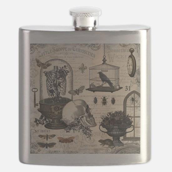 Modern Vintage Halloween Garden Flask