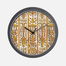 Harvest Moons Renaissance Columns Wall Clock