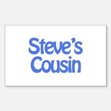 Steve's Cousin Rectangle Decal