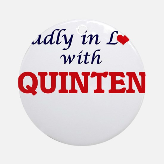 Madly in love with Quinten Round Ornament