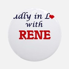 Madly in love with Rene Round Ornament