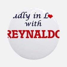 Madly in love with Reynaldo Round Ornament