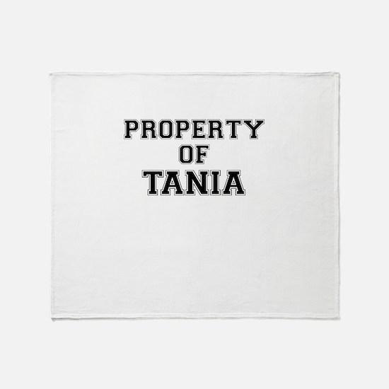 Property of TANIA Throw Blanket