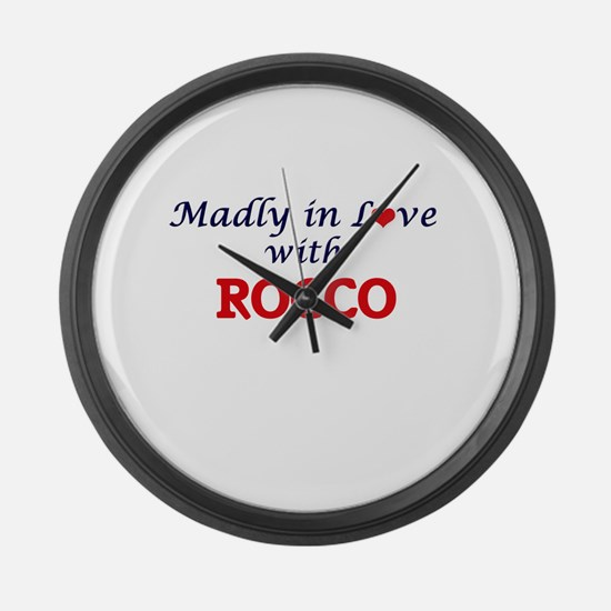 Madly in love with Rocco Large Wall Clock