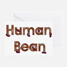 Human Bean Greeting Card