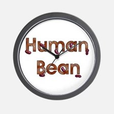 Human Bean Wall Clock