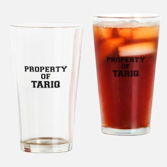 Property of TARIQ Drinking Glass