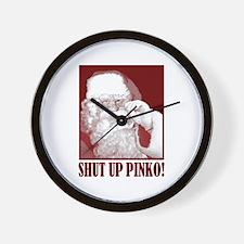 Santa Claus says, Shut Up A.C.L.U! Wall Clock