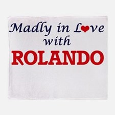 Madly in love with Rolando Throw Blanket