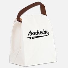 Anaheim CA Retro Logo Canvas Lunch Bag