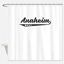 Anaheim CA Retro Logo Shower Curtain