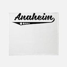 Anaheim CA Retro Logo Throw Blanket