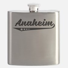Anaheim CA Retro Logo Flask