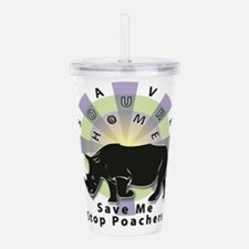 Save Our Home: Rhino 2 Acrylic Double-wall Tumbler