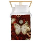 Steampunk butterfly Luxe Twin Duvet Cover