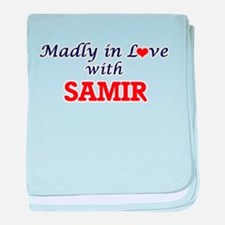 Madly in love with Samir baby blanket