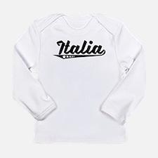 Italia Retro Logo Long Sleeve T-Shirt