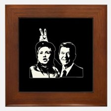 Ron gives Hillary the rabbit  Framed Tile