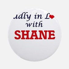 Madly in love with Shane Round Ornament