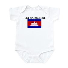 I LOVE CAMBODIAN GIRLS Infant Bodysuit