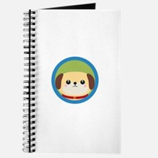 Cute puppy dog with blue circle Journal