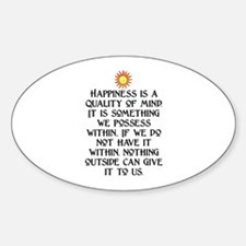 HAPPINESS.. Oval Decal