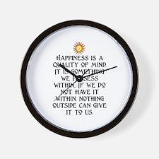 HAPPINESS.. Wall Clock