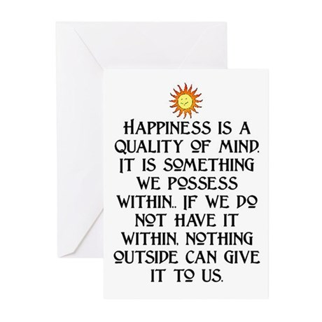 HAPPINESS.. Greeting Cards (Pk of 20)