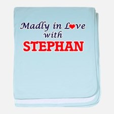 Madly in love with Stephan baby blanket
