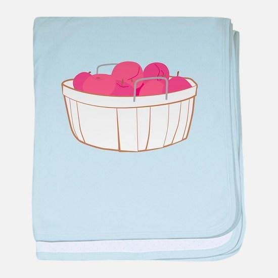 Apple Basket baby blanket