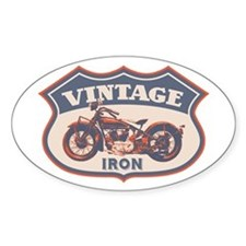Vintage Iron Oval Decal