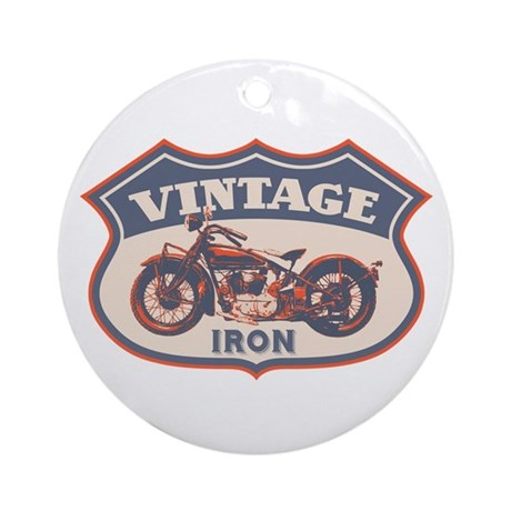 Vintage Iron Ornament (Round)