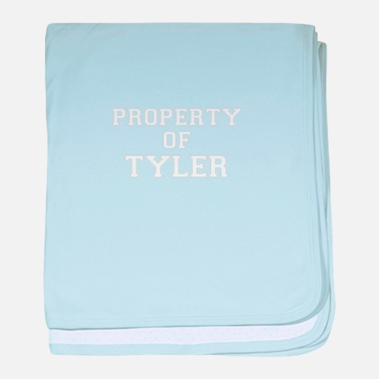 Property of TYLER baby blanket