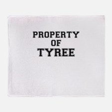 Property of TYREE Throw Blanket