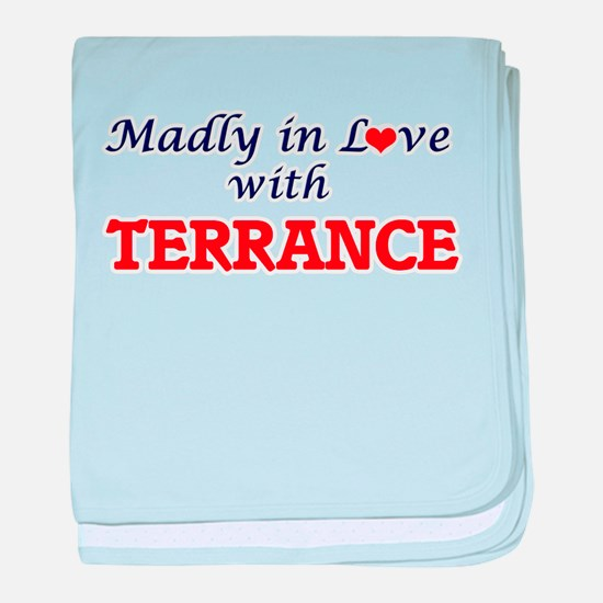 Madly in love with Terrance baby blanket