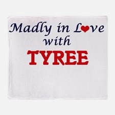 Madly in love with Tyree Throw Blanket