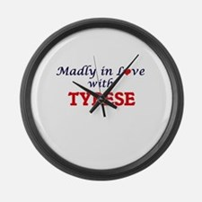 Madly in love with Tyrese Large Wall Clock