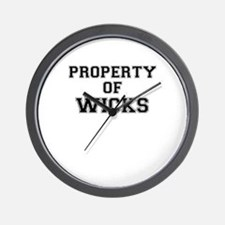 Property of WICKS Wall Clock