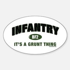 Infantry: Grunt Thing Oval Decal