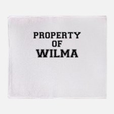 Property of WILMA Throw Blanket