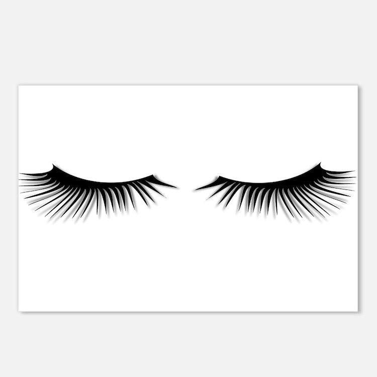 Eyelash postcards eyelash post card design template for Eyelash template