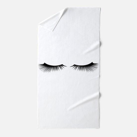 Eyelashes Beach Towel