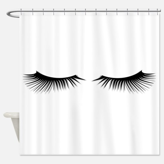 Eyelashes Shower Curtain
