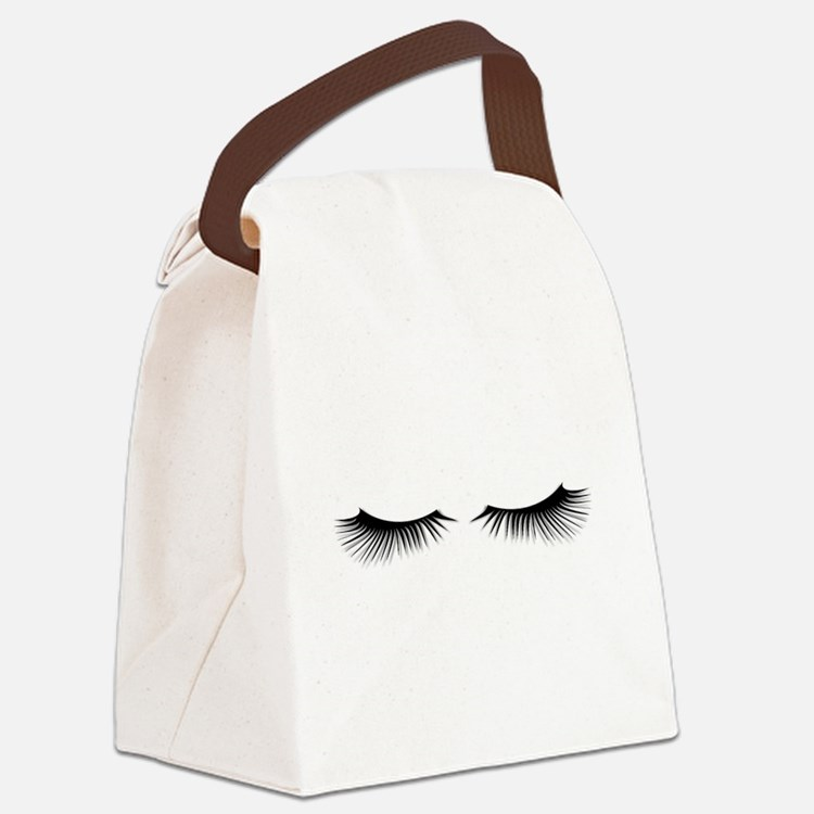 Eyelashes Canvas Lunch Bag