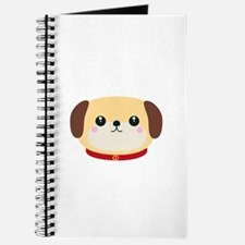Cute puppy Dog with red collar Journal