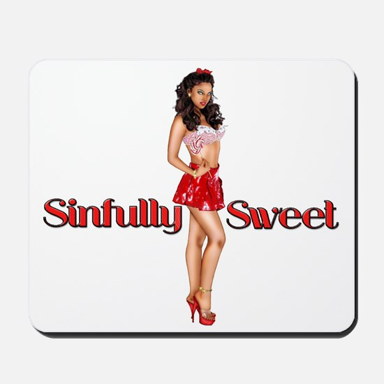 Sexy Sinfully Sweet Pinup Mousepad