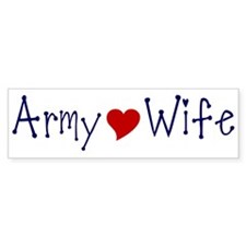 Army Wife with red heart Bumper Bumper Sticker