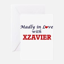 Madly in love with Xzavier Greeting Cards