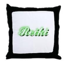 Reiki (Neon Green) Throw Pillow